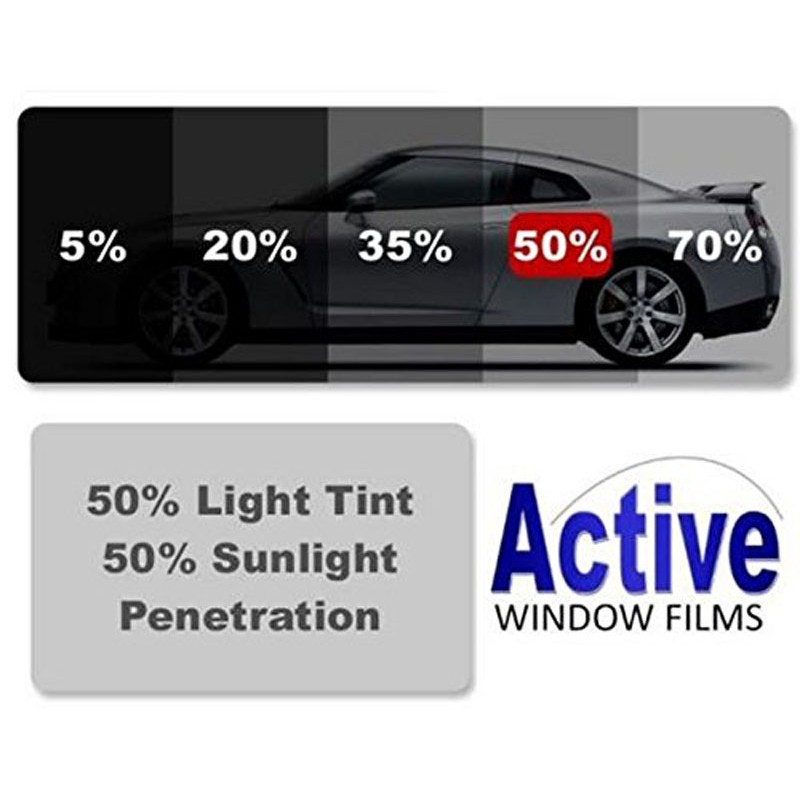 50 Ultra Light Black Car Window Auto Tint Film For