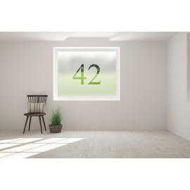 Personalised Number Cut Out Bespoke Custom Frosted Numbers Window Film 01