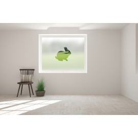 Rabbit Cut Out Bespoke Custom Frosted Animal Window Film A03