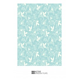 Floral Pattern Print 02 Bespoke Custom Frosted Window Film