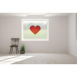 Love Heart Cut Out Bespoke Custom Frosted Window Film