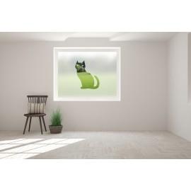 Cat Cut Out Bespoke Custom Frosted Window Film