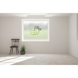 Duck Cut Out Bespoke Custom Frosted Children Window Film A06