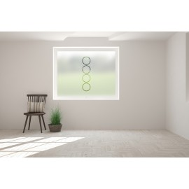 Vertical Frosted Circle Cut Out Bespoke Custom Frosted Simple Shape Window Film S10