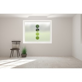 Vertical Circles Cut Out Bespoke Custom Frosted Window Film