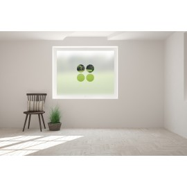 Multiple Circles Cut Out Bespoke Custom Frosted Multi Function Window Film MF12