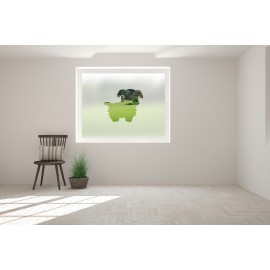Dog Cut Out Bespoke Custom Frosted Animal Window Film A01
