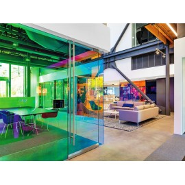 Dichroic colour changing self-adhesive rainbow colourful, coloured window film