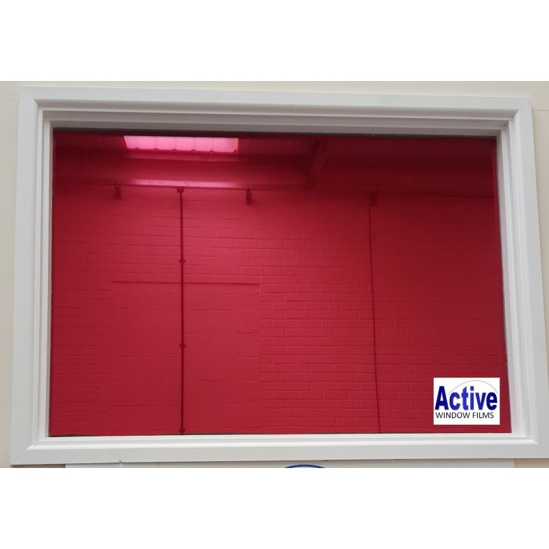 Mirror red privacy one way pro window tinting sticky back for Window tint film