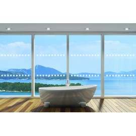 Square Shape - 2m Length Frosted Window Manifestation Dot