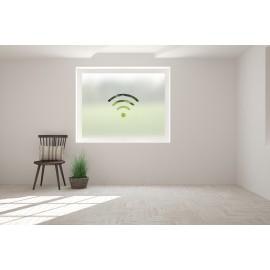 WiFi Symbol Cut Out Bespoke Custom Frosted Office Window Film