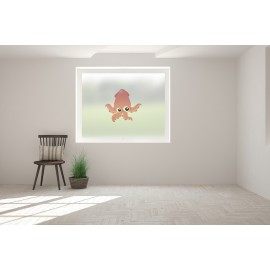 Squid Print Bespoke Custom Frosted Children Window Film C10