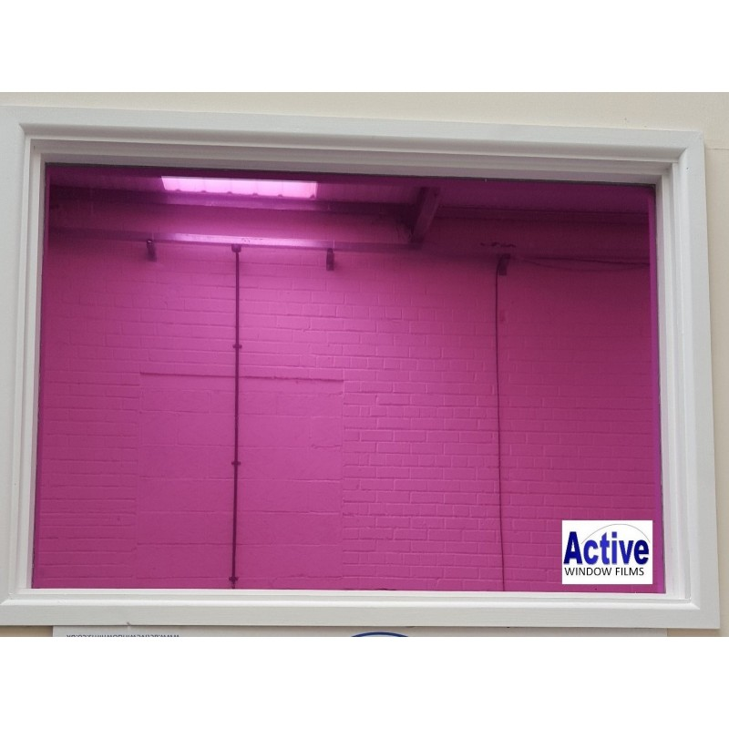 Mirror pink privacy one way pro window tinting sticky back for 1 way window film
