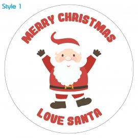 Personalised Custom Santa Christmas Sticker Label x30