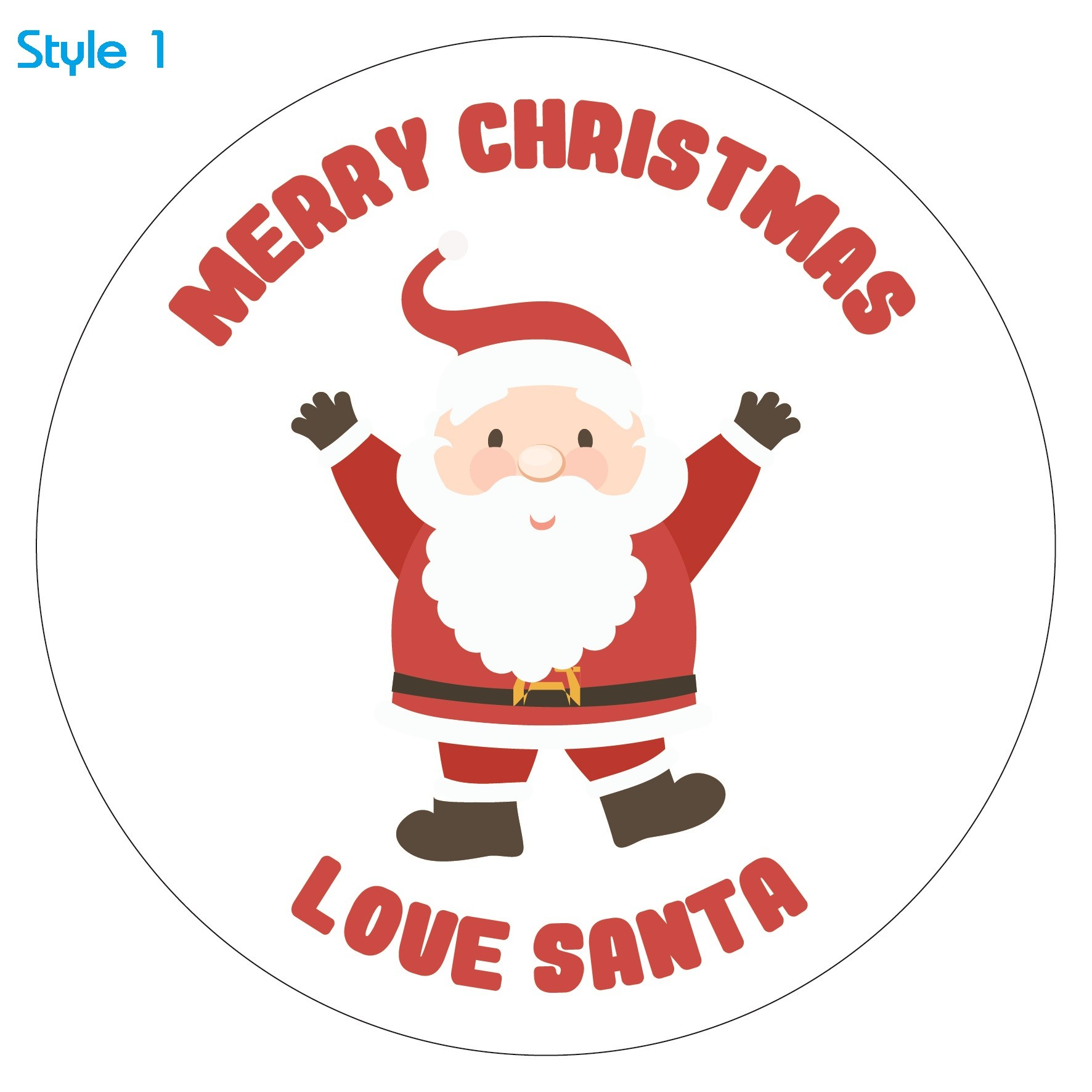 Personalised Christmas Stickers Labels