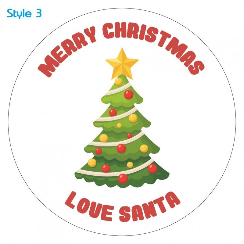 Personalised Custom Christmas Tree Christmas Sticker Label