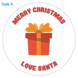 Personalised Custom Present Christmas Sticker Label x30