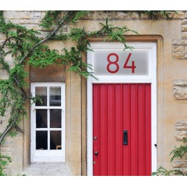 Customised Printed House Number Frosted Window Film Glass Sticker 01