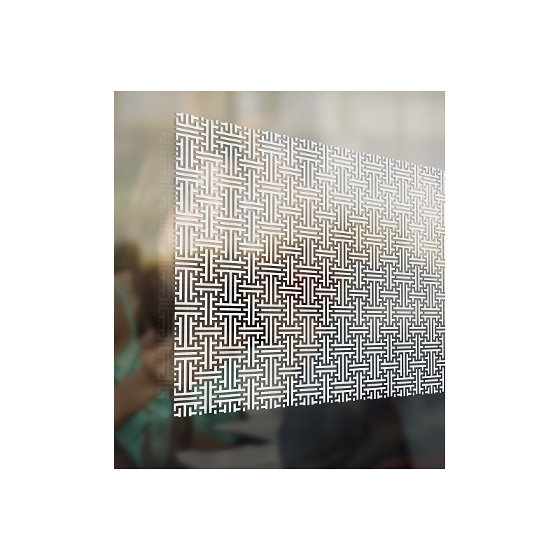 Do It Yourself Home Design: Frosted Maze Privacy Pattern Decorative Frost Window Film