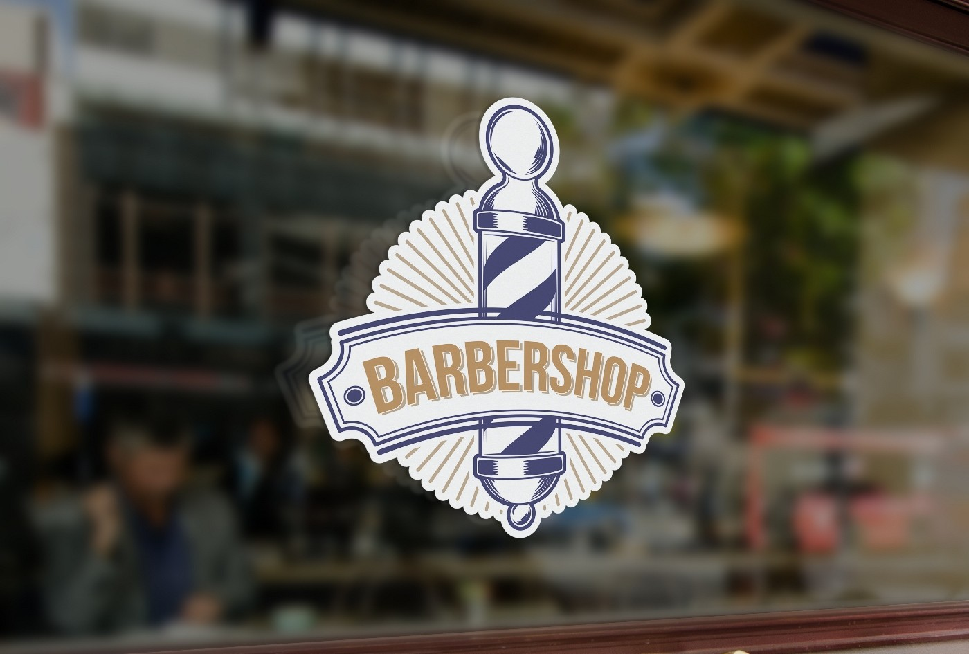 B1 bespoke barber shop sign window sticker a high quality vinyl sticky back plastic decal commercial window glass stickers