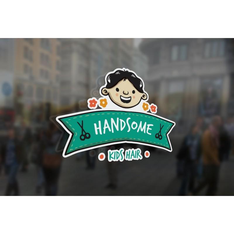 Bespoke Kids Barber Sign Window Sticker A High Quality