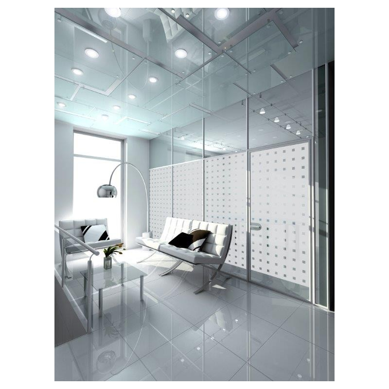 Patterned Decorative White Window Film Privacy Frosted