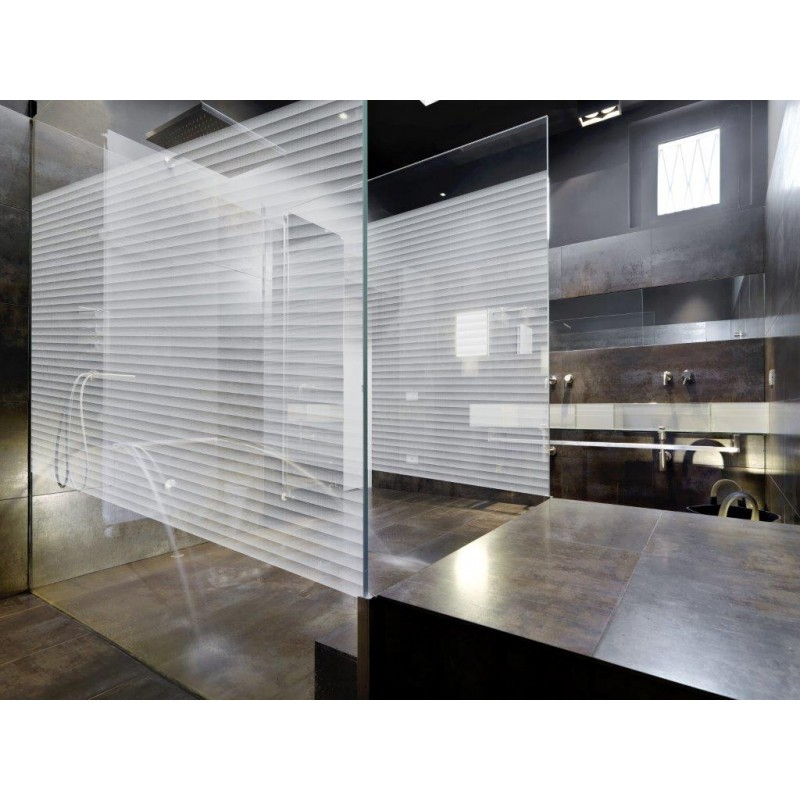 Patterned Decorative White Frosted Window Glass Film Borel