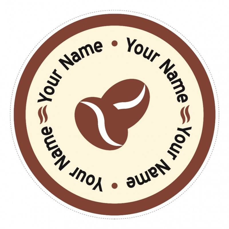 C9 Customisable Round Cafe Coffee Bean Window Sticker