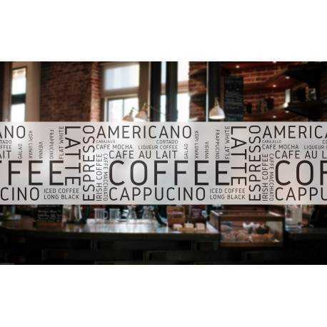 C16 Cafe Banner Frosted Window Privacy Partition