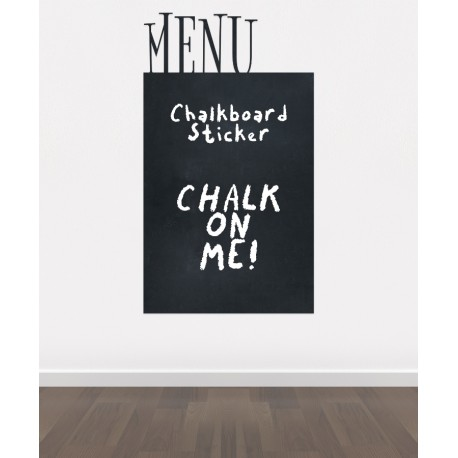 C17 - Bespoke menu board, blackboard vinyl cut out sticker, beautiful wall, self-adhesive easy install.
