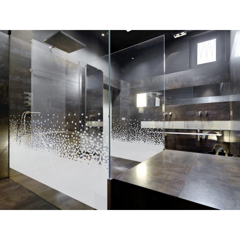 decorative pixel pattern window film frosted vinyl privacy glass covering pi. Black Bedroom Furniture Sets. Home Design Ideas