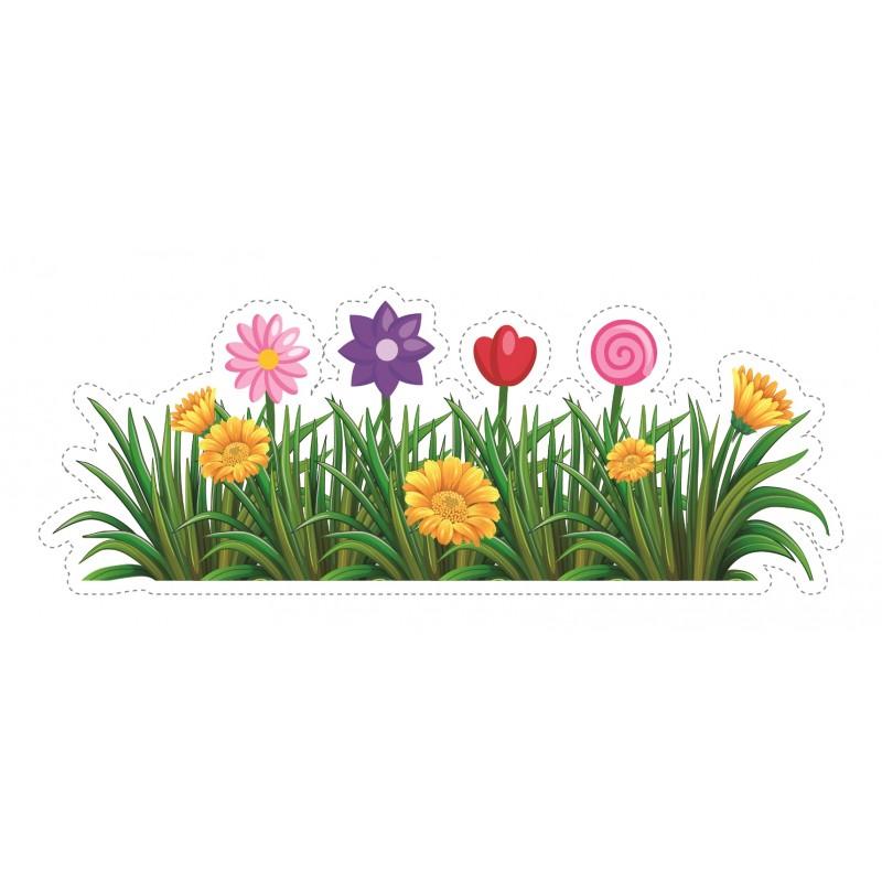 G11 Bespoke Flowers Amp Grass Window Sticker A High