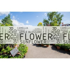 G17 - Florist banner frosted window privacy partition - screening window partition decal.