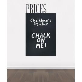 BK2 - Bespoke price chalkboard, blackboard vinyl cut out sticker, beautiful wall, self-adhesive easy install.