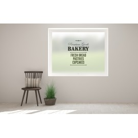 BK16 - Premium goods, bakery sign, printed bespoke custom frosted window film