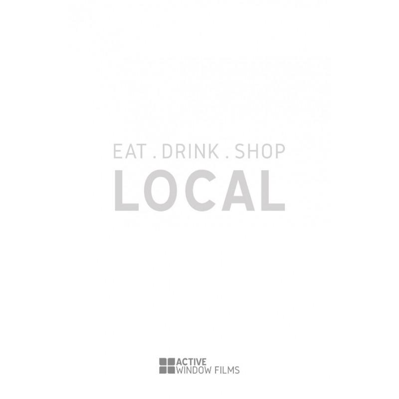 197a5a915b5f5 LS8 - Bespoke 'eat, drink , shop , local', vinyl cut window sticker,  contour cut, for commercial windows/glass or walls.