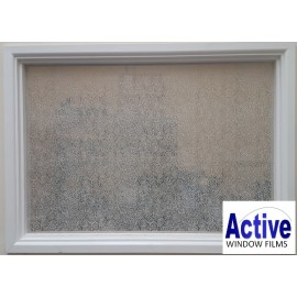 Patterned Decorative White Frosted Swirls /Circles Design Window Film RC