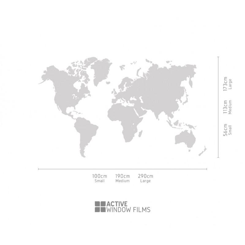 Bespoke High Quality Detailed World Map Vinyl Wall Sticker