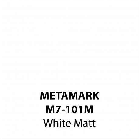 White Matt Vinyl M7-101M, Metamark 7 Series, self-adhesive, sticky back polymeric sign making vinyl