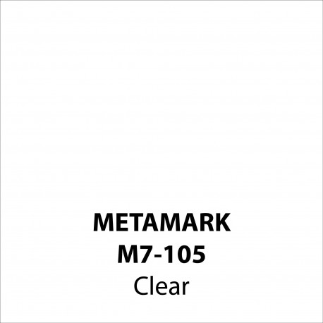 Clear Vinyl M7-105, Metamark 7 Series, self-adhesive, sticky back polymeric sign making vinyl