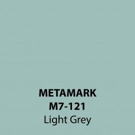 Light Grey Gloss Vinyl M7-121, Metamark 7 Series, self-adhesive, sticky back polymeric sign making vinyl