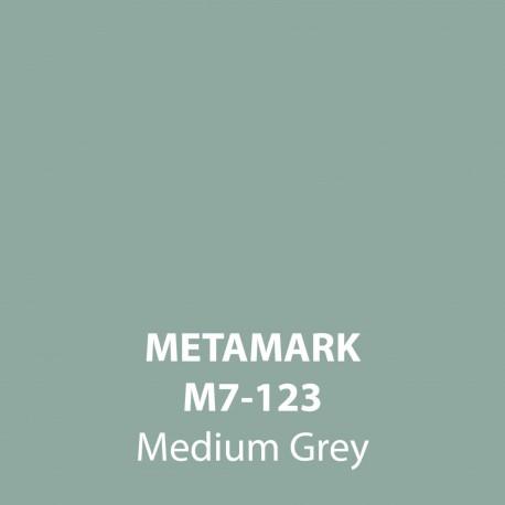 Medium Grey Gloss Vinyl M7-123, Metamark 7 Series, self-adhesive, sticky back polymeric sign making vinyl