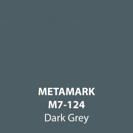 Dark Grey Gloss Vinyl M7-124, Metamark 7 Series, self-adhesive, sticky back polymeric sign making vinyl