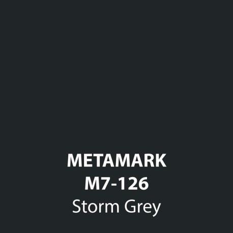 Storm Grey Gloss Vinyl M7-126, Metamark 7 Series, self-adhesive, sticky back polymeric sign making vinyl