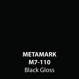 Black Gloss Vinyl M7-110, Metamark 7 Series, self-adhesive, sticky back polymeric sign making vinyl