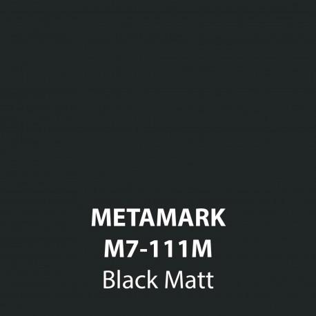 Black Matt Vinyl M7-111M, Metamark 7 Series, self-adhesive, sticky back polymeric sign making vinyl