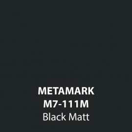 Black Matt Vinyl M7-111M, Metamark 7 Series, self-adhesive, sticky back polymeric sign making vinyl