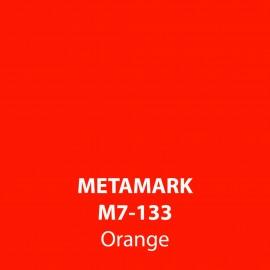 Orange Gloss Vinyl M7-133, Metamark 7 Series, self-adhesive, sticky back polymeric sign making vinyl