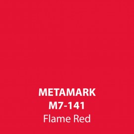 Flame Red Gloss Vinyl M7-141, Metamark 7 Series, self-adhesive, sticky back polymeric sign making vinyl