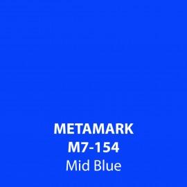 Mid Blue Gloss Vinyl M7-154, Metamark 7 Series, self-adhesive, sticky back polymeric sign making vinyl